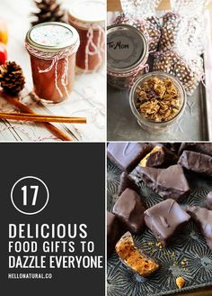 dazzle everyone on your list with these 17 delicious and easy homemade food gifts Best Food Gifts, Homemade Food Gifts, Diy Food Gifts, Edible Gifts, Jar Gifts, Gift Jars, Candy Gifts, Christmas Food Gifts, Homemade Christmas Gifts
