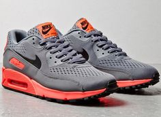 Nike Air Max 90 EM – Grey / Orange