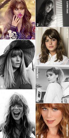 40 CABELOS COM FRANJA - Famosas que adotaram cabelo com franja: Sophie Charlotte, Alinne Moraes, Mariana Ximenes e Julia Dalavia.