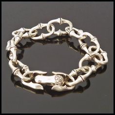 """Biker's & Medieval Solid Sterling Silver 925 """"Chain"""" Bracelet 20 cm Length 51gms"""