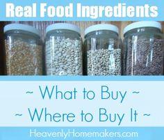 Real Food Ingredients Resource Page 2