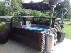 Hot Tub Gazebo, Hot Tub Backyard, Hot Tub Garden, Hot Tub Privacy, Pool Spa, Backyard Patio Designs, Backyard Ideas, Jacuzzi Outdoor, Home Landscaping