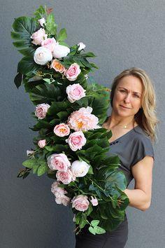 Grave Decorations, Funeral Flowers, Silk Flowers, Floral Arrangements, Floral Wreath, Wreaths, Spring, Garden, Handmade