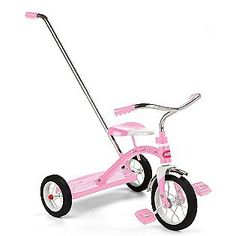 Radio Flyer -Classic Pink Tricycle with Push Handle