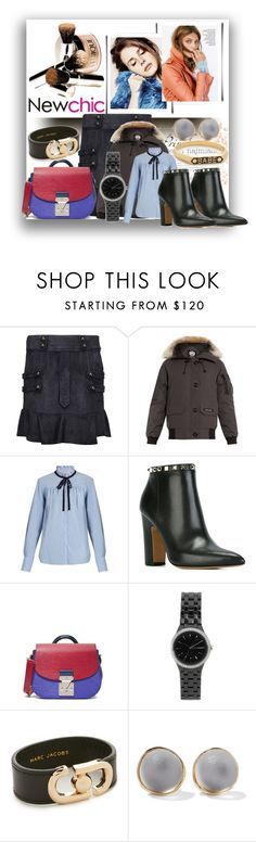 """""""In Love With Suede Mini Skirts!!"""" by stylediva20 ❤ liked on Polyvore featuring Isabel Marant, Canada Goose, Sea, New York, Valentino, DKNY, Marc Jacobs, Alexis Bittar and Nora Kogan"""