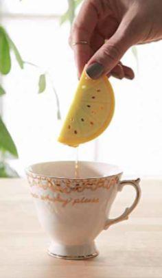cute lemon tea infuser