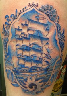 Delft blue tattoo Love it but mine would be different for sure but style is awesome!