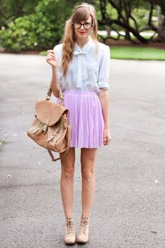 Stefanie in #lavender. Cute and #preppy!