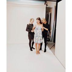 Today's shoot at VERO MODA HQ: A little styling on set. #veromoda #veromodainside #photoshoot #styling #model #fashion #loveit