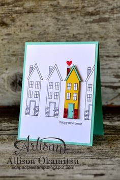 nice people STAMP!: Holiday Home Bundle from Stampin' Up! - New Home Card featuring the Paper Piecing technique by Allison Okamitsu