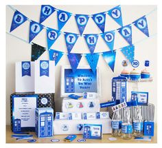 Dr Who Party DIY Printable Kit  INSTANT by CreativeLittleStars, $19.50