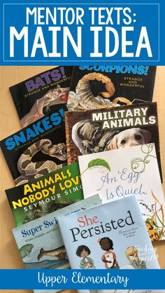 Check out this post for main idea mentor texts and read alouds for teaching main idea. The post also includes tips for introducing and teaching main idea to upper elementary students. Reading Workshop, Reading Skills, Teaching Reading, Guided Reading, Close Reading, Reading Lessons, Reading Books, Math Lessons, 3rd Grade Books