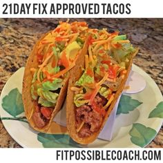 21 Day Fix Approved TACOS. Make sure you REPIN to save this AMAZING recipe to try later and of course to share it with your friends and family for them to try as well!