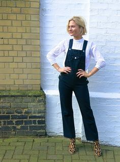 @pinsykes / Pandora Sykes wearing The Tennessee Overall from the Alexa Chung for AG collection #ACforAG