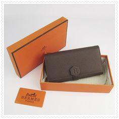 54cfe82b7086 Hermes 1 1 Bearn Wallet Genuine Cowhide Dark Coffee H420. alice cornish · Hermes  Clutch Bag