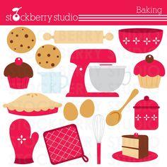 Baking clipart set