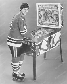Bobby Orr Bally Power Play Pinball Machine Vintage Reprint Of Old Photo Bobby Orr Bally Power Play Pinball Machine Vintage Reprint Of Old Photo Here is a neat collectible featuring Bobby Orr Blackhawks Hockey, Hockey Teams, Chicago Blackhawks, Hockey Players, Hockey Stuff, Hockey Decor, Hockey Pictures, Hockey Rules, Bobby Orr