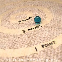 Marble game {great for too hot or rainy summer days}