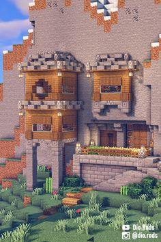 Simple Minecraft Houses, Casa Medieval Minecraft, Minecraft House Plans, Minecraft Farm, Minecraft Houses Survival, Minecraft Cottage, Minecraft House Tutorials, Minecraft House Designs, Minecraft Construction