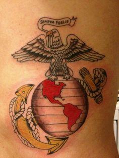usmc tattoos on pinterest marine corps tattoos usmc tattoos and marine tattoo. Black Bedroom Furniture Sets. Home Design Ideas