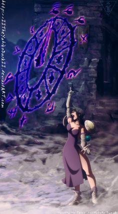 Merlin - Nanatsu No Taizai Manga 296 Throne Coffin Seven Deadly Sins Anime, 7 Deadly Sins, Anime Oc, Otaku Anime, Manga Anime, Fantasy Characters, Anime Characters, Meliodas Vs, 7 Sins