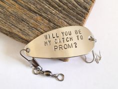 Personalized Will You Go To Prom With Me Fishing Lure Uniqued Prom Gifts for Her Asking Girl to Prom Creative Promposal Idea Winter Dance by CandTCustomLures on Etsy