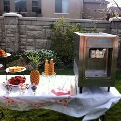 Rent a soft serve ice cream machine for your party or wedding.