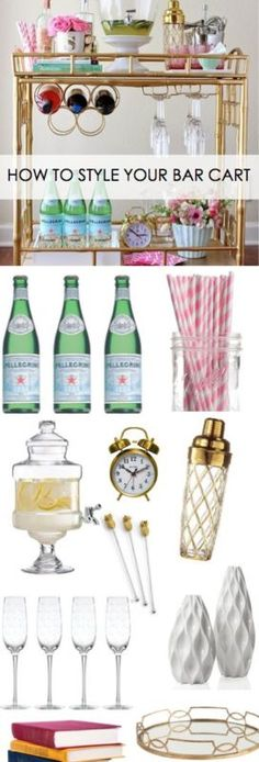 Bar carts are really popular right now in the world of entertaining. And so today I'm setting out to show you how to style your bar cart with these 5 simple tips!1. Beverage Be sure to keep your cart stocked...