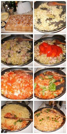 Pasta amatriciana, Ver Sitio Ahora: http://misrecetasdepastas.blogspot.com/