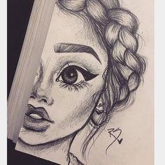 Drawings drawings, art and - cute girl sketch Pencil Sketch Drawing, Girl Drawing Sketches, Sketch Art, Pencil Drawings, Drawing Ideas, Girl Drawings, Drawing Drawing, Drawing Faces, Pencil Art