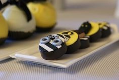 ADORABLE CHOCOLATE COVERED OREOS from this Preppy Police Man Themed Birthday Party with Such Cute Ideas via Kara's Party Ideas KarasPartyIdeas.com #policeofficer #policemanparty #cop ...
