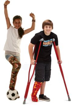 Make a functional fashion statement with CastCoverZ! Legz. Prevent scratching when wearing a cast or orthotic walking boot. Decorate with our fabrics.