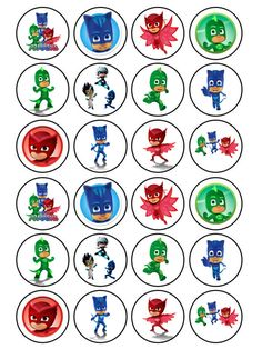 I could make a matching game with PJ masks and their initial letters! Children would have to recognize the letter for each hero and then find the hero! 5th Birthday Party Ideas, Third Birthday, Boy Birthday, Party Themes, Pj Masks Cupcake Toppers, Pj Mask Cupcakes, Fondant Toppers, Pj Masks Printable, Pjmask Party
