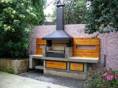 Get our best ideas for outdoor kitchens, including charming outdoor kitchen decor, backyard decorating ideas, and pictures of outdoor kitchen. Inspired by these amazing and innovative outdoor kitchen design ideas. Patio Kitchen, Summer Kitchen, Outdoor Kitchen Design, Outdoor Kitchens, Country Kitchen, Barbecue Design, Barbecue Area, Bbq Grill, Parrilla Exterior
