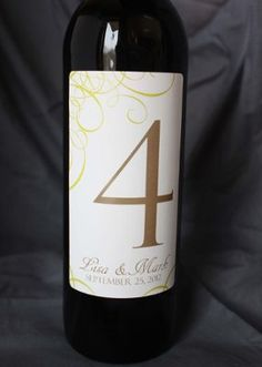 Maui Bride's Wine Bottle Table Numbers | Weddings, Do It Yourself | Wedding Forums | WeddingWire