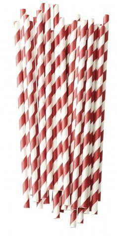Papieren rietjes rood wit gestreept Geschikt voor elk gelegenheid , bevat  25 papieren rietjes Afmeting: L:20 cm Ø: 0,5 cm www.glorioussweets.com