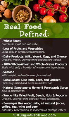 Real Food Defined (The Rules) - 100 Days of Real Food