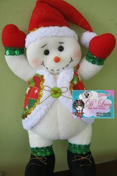 Navidas en fieltro: Christmas Makes, Felt Christmas, Christmas Snowman, Christmas Holidays, Christmas Wreaths, Christmas Ornaments, Felt Snowman, Snowman Crafts, Felt Crafts