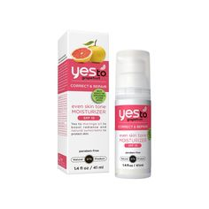 Yes To Grapefruit Even Skin Tone Moisturizer with SPF 15 is clinically proven to help diminish the appearance of dark spots in four weeks! It's formulated with Moringa Oil, a skin conditioning moisturizer chock-full of radiance-boosting fatty acids, Grapefruit, which helps to fade age spots and increase skin luminosity, and Passion Flower Extract to naturally soothe skin. <BR/> <BR/> PROVEN TO: <BR/> Help reduce...