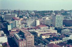Vista panorâmica da cidade em 1973
