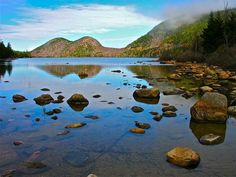 Summer Boat: The Omm of Summer: Jordan Pond and the Bubbles, Acadia National Park, Maine