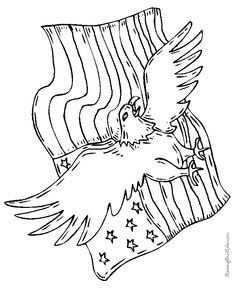 Patriotic American Eagle Drawings And Coloring Pages