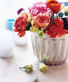 Fiori nello stampo per i dolci