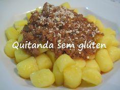 Nhoque sem glúten, leite e ovo 500 gr Batatas (pode ser batata doce) 1c de margarina 1 xic. de amido de milho