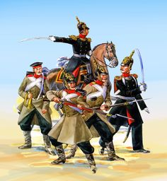 Russian troops during the Crimean War