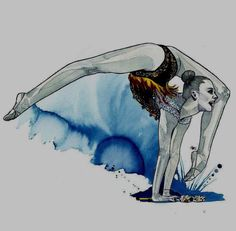 inspired by Aleksandra Soldatova (Russia) - Photo Dancing Drawings, Bff Drawings, Gymnastics Skills, Rhythmic Gymnastics, Ballet Art, Artistic Gymnastics, Art Competitions, Dance Poses, Dance Pictures
