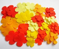 Felt Flower Shapes HELICES