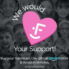 Buy your #ValentinesDay gifts at #AmazonSmile & Amazon donates to myFace!