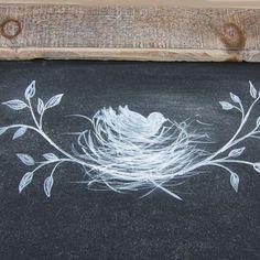Image result for chalkboard bird