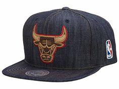 Mitchell And Ness NBA Chicago Bulls Dark Denim Snapback www.nbafaniam.com f99fdaa5dc1e
